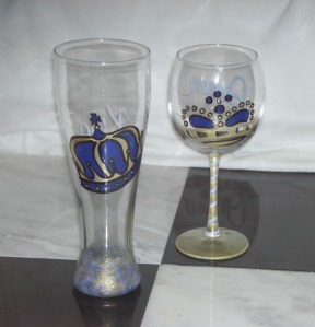 Royal Blue and Gold King and Queen 02